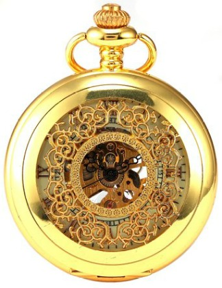 AMPM24 Luxury Golden Luminous Mens Mechanical Pocket Watch