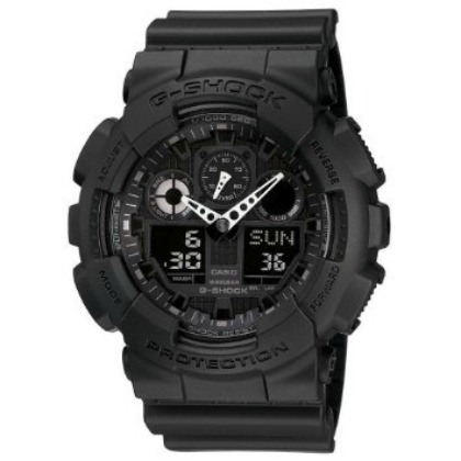Casio Men's GA100-1A1 Black Resin Quartz Watch with Black Dial Watch Casio