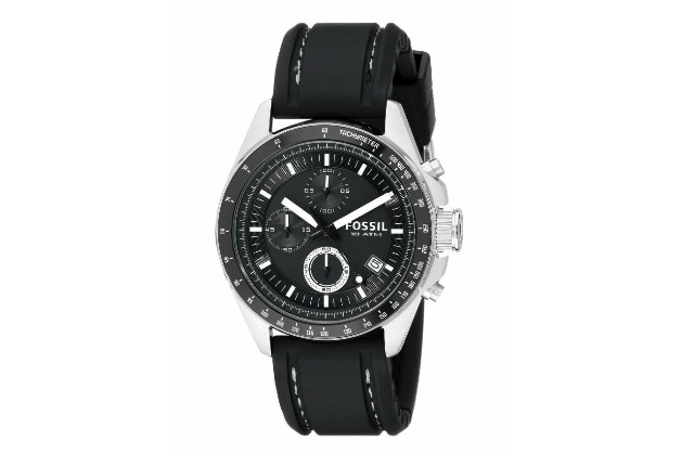 Best_watches_under_200_(1000)_Fossil_Men's_CH2573_Decker_Stainless_Steel_Chronograph_Watch_With_Black_Silicon_Band