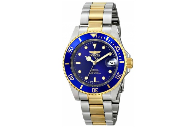 dive_watches_under_1000_Invicta_Men's_8928OB_Pro_Diver_23k_Gold-Plated_and_Stainless_Steel_Two-Tone_Automatic_Watch