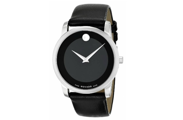 best_watches_for_men_under_500_(480)_34_Movado_Men's_0606502_Museum_Stainless_Steel_Watch_with_Black_Leather_Band