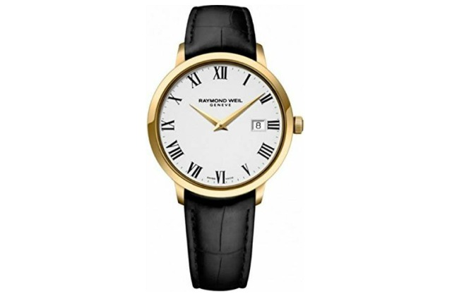 best_watches_for_under_500_(70)_Raymond_Weil_Toccata_White_Dial_Black_Leather_Strap_Mens_Watch_5488