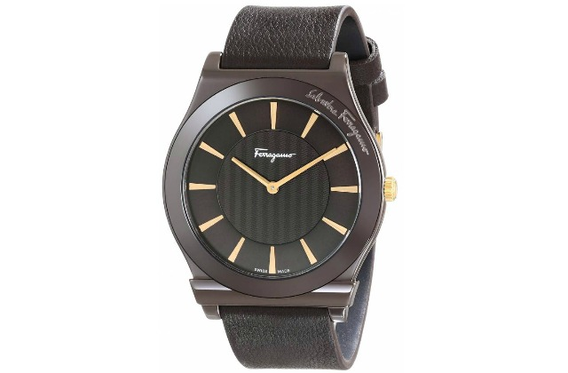 best_mens_watches_under_1000_Salvatore_Ferragamo_Men's_FQ3030013_1898_Brown_Ion-Plated_Coated_Stainless_Steel_Leather_Watch