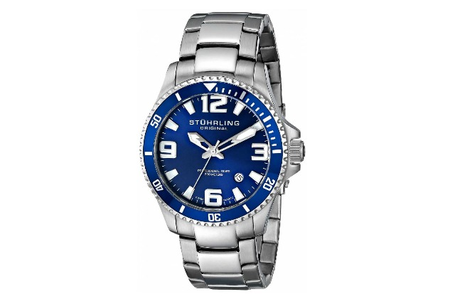 mens_watches_under_200_Stuhrling_Original_Men's_395.33U16_Aquadiver_Regatta_Swiss_Quartz_Stainless_Steel_Dive_Watch
