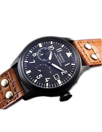 Parnis Military Army Men's Automatic Watch Seagull Movement St25 Power Reserve Energy Display
