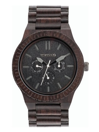 WeWood Men's Kappa Black Wooden Watch
